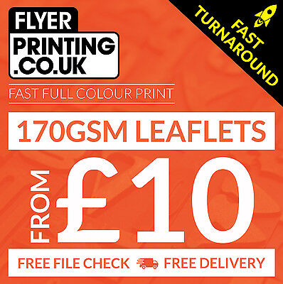 Leaflets / Flyers printed on 170gsm silk ~ FROM £10 ~ A6 / DL / A5 / A4 / A3