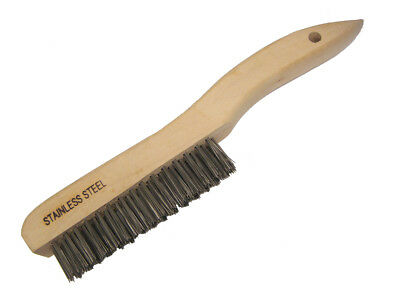 """10 Pack - 10-1/4"""" Wire Scratch Brush w/ Wood Shoe Handle Stainless Steel Bristle"""