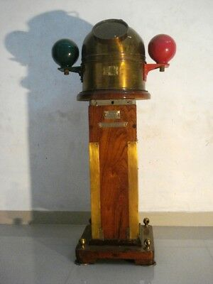 LARGE - KELVIN HUGHES Marine WOODEN BINNACLE Compass  - 100 % ORIGINAL(2707)