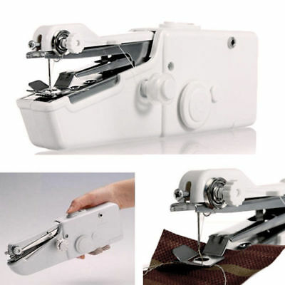 Mini Travel Portable Cordless Handheld Single Stitch Fabric Sewing Machine Home