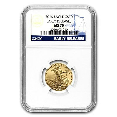2016 1/4 oz Gold American Eagle MS-70 NGC (Early Releases) - SKU #94006
