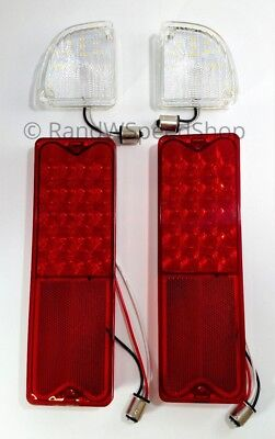 Set LED Reverse Lamp & Tail Lights Assembly Kit For 1967-1972 Chevy GMC Truck