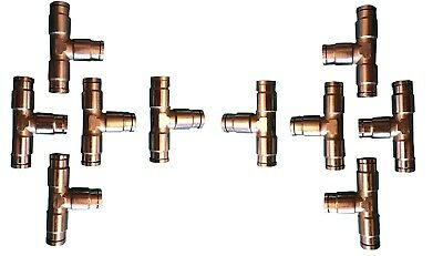 """1/4"""" T Push in Pneumatic Fitting 10 pack #6060"""