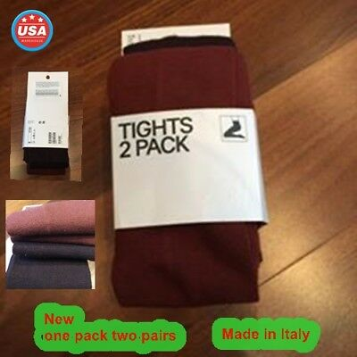 2 pair Halloween warm tight stocking sock red purple quality Small made in Italy