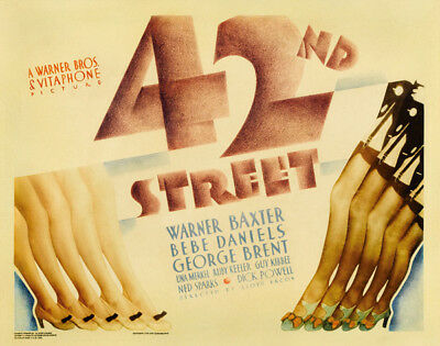 42nd Street UNSIGNED poster photo - K2163 - Warner Baxter and Bebe Daniels