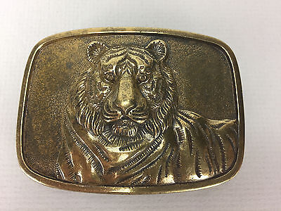 Large Heavy Oversized Metal Belt Buckle - Tiger