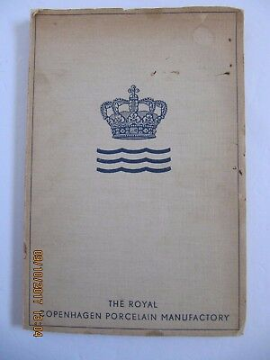 Vintage 1939 Royal Copenhagen Porcelain Manufactory Soft Cover Book - Free Ship