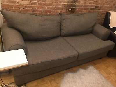 GRAY SOFA WITH 2 large cushions 80\