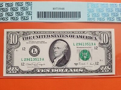 $10 1988A FRN Error Note Missing Back Printing PCGS66 PPQ