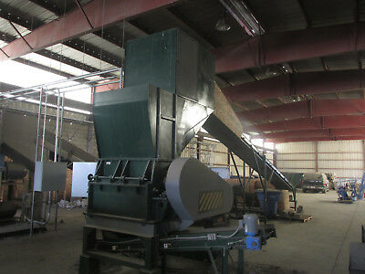 500/1200 70hp Plastic Granulator/55kW/3Phase/4x4 Feed | Conveyors Included