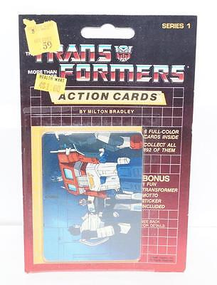 Optimus Prime Sealed Pack Card #50 Transformers Trading Action Cards 1985 G1