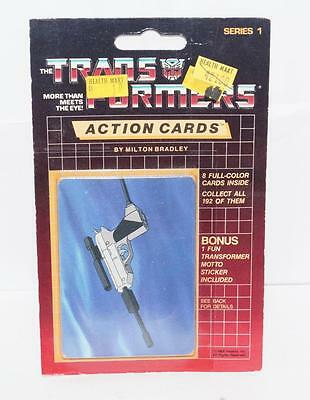 Megatron Sealed Pack Card #141 Transformers Trading Action Cards 1985 G1
