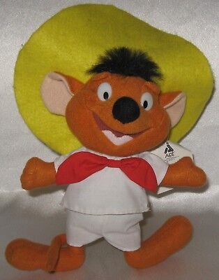 "1997 Looney Tunes Plush Speedy Gonzales 10"" ACE"