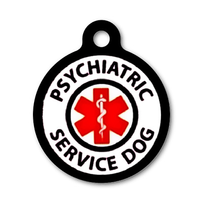 PSYCHIATRIC SERVICE DOG-PSD -Custom Personalized Pet ID Tag for Dog Collars