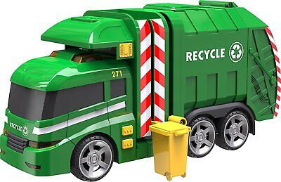 """Teamsterz Large 14"""" Garbage Truck Bin Lorry Light & Sound Rubbish Recycling Toy"""
