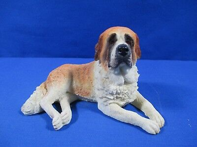 World Of Dogs Saint St Bernard Dog #4404 Laying Down Figurine Resin 4""