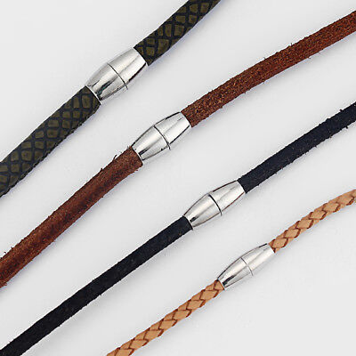 3mm 4mm 5mm 6mm Round Magnetic Clasp for Round Leather Cord Bracelet Making