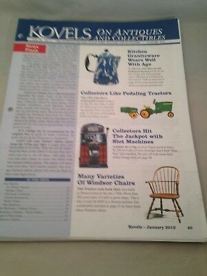 Kovels On Antiques and Collectibles Newsletters January thru December 2012