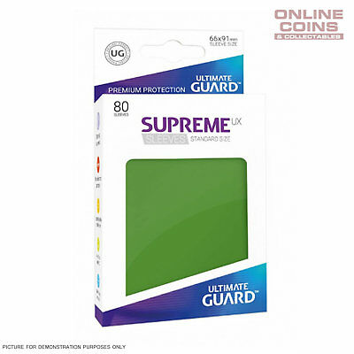 Ultimate Guard SUPREME UX High Quality Card Sleeves - GREEN - Pokemon MTG