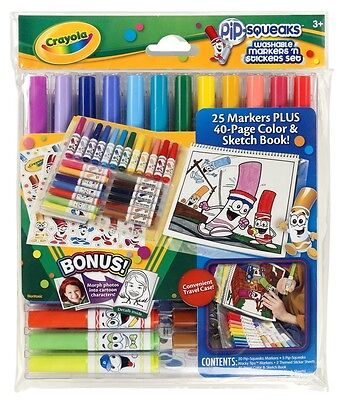 Crayola Pip-Squeaks Washable Markers 'n' Sticker Set