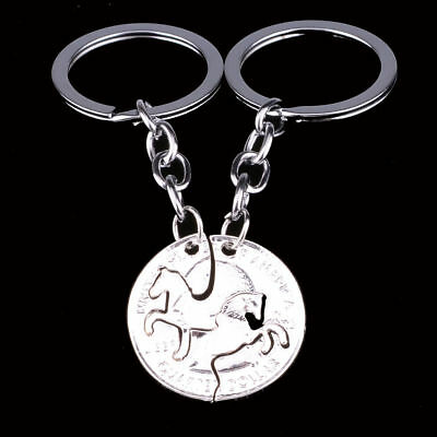 Horse 2 Pc Bff Keyring New Gift Fast N Free Post