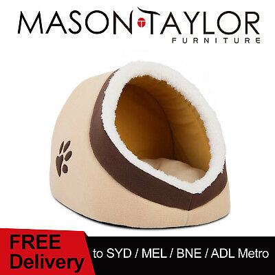 FREE DELIVERY(T&C) Igloo Pet House Sleeping Bed Cat Dog Cave Fleece Nest Mat Pad
