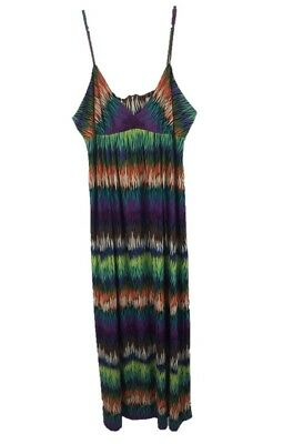 Eci New York Sz Xl Multicolor Spaghetti Strap Maxi Dress 21 99