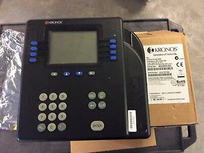 KRONOS System 4500 Digital Time Clock Scanner Reader Numeric Input  A3