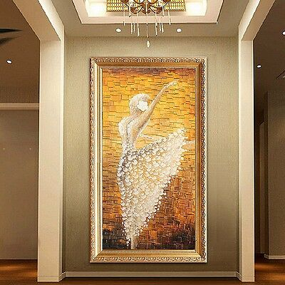 AU Abstract Modern Art Oil Hand Painting On Canvas BALLET (no framed) Wall Decor