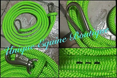 4mtr Fluro Green Boat Bow Line Ski Race Racing BNWT