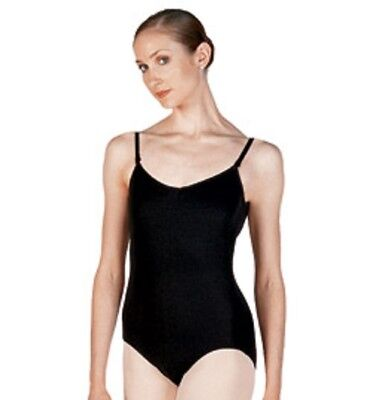 Leotard Camisole Spaghetti Strap Adult sizes -L, XL, Lined,NEW Basic Moves Black