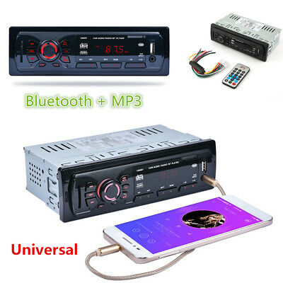 Bluetooth Car Stereo MP3 Audio In-Dash Aux Receiver +SD USB FM Auto Radio Player