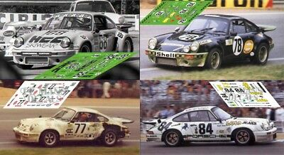 Calcas Porsche 911 Carrera RS Le Mans 1975 1:32 1:43 1:24 1:18 slot decals
