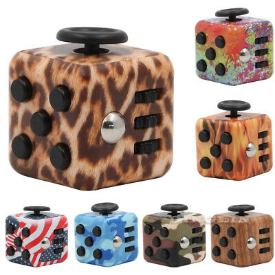 Magic Fidget Cube Anti-anxiety Adults Stress Reliever Focus Toys Kids Funny Gift