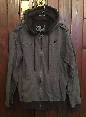 Billabong Grey Zip Up Hoodie Jacket Size Small