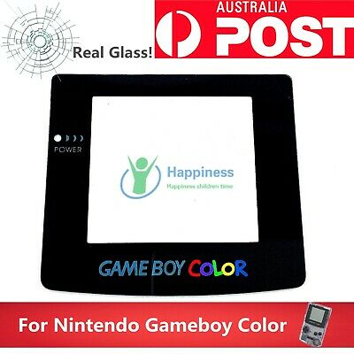 Replacement Screen Lens NINTENDO Game Boy Colour GBC  Adhesive Back REAL GLASS!