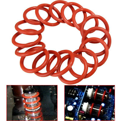 20Pcs 18mm Tube Dampers Silicone O-Ring Fit 12AX7 12AU7 12AT7 EL84 Audio Vacuum