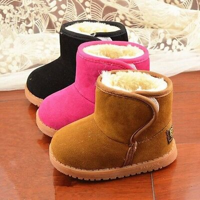 New Infant Toddler Baby Girls Boots Boys Kids Winter Thick Snow Boots Fur Shoes