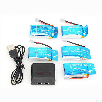 5in1 USB Charger 3.7V 25C 850mAh Li-Po Battery for Syma X5SW X5SC RC Drone new