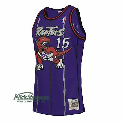 Toronto Raptors Vince Carter 1998-1999 Hardwood Classics Road Jersey by Mitch...