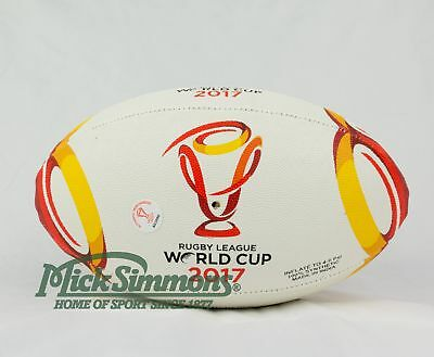 NEW Steeden 2017 Rugby League World Cup Replica Ball Size 11 Inch (Mini)