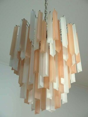 Wonderful Murano chandelier – 84 frosted prism - Venini Style