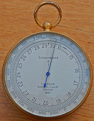 Antique Altitude ALTIMETER 1888 British BROAD ARROW Marking by T. Wheeler London
