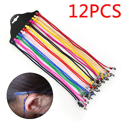 12Pcs Glasses Neck Cord Strap string lanyard chain sunglasses reading spactacles