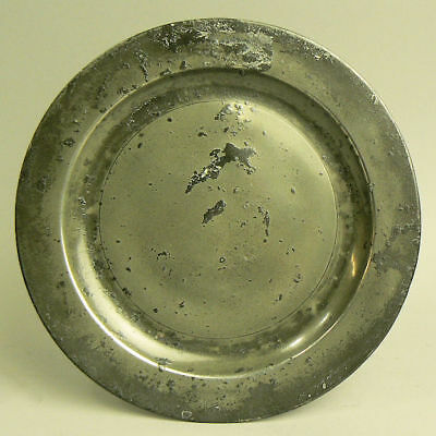 A Fine Antique Early 18Th Century Pewter Plate Samuel Smith London Touch Marks
