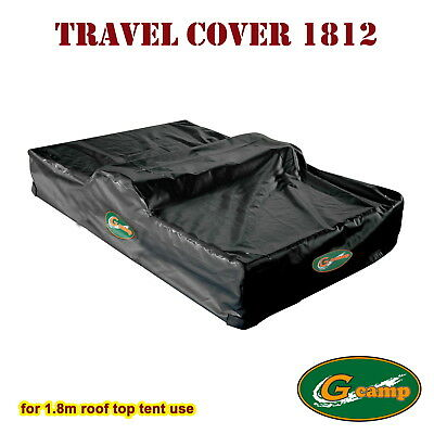 G Camp 1.8M Travel Cover Black Roof Tent Camper Trailer 4Wd 4X4  Car Rack Free