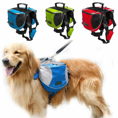 Pet Dog Saddle Bag Pack Backpack for Outdoor Hiking Camping Training Pet Carrier