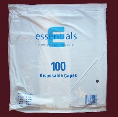 Hairdressers Pack Of 100 Disposable Grey Waterproof Shoulder Capes