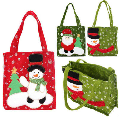 Xmas Santa Claus Gift Bags Merry Christmas Snowman Candy Bag Wedding Party Decor
