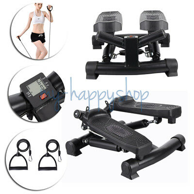 Fitness Mini Stepper Legs Arms Thigh Aerobic Workout Rope Exercise Gym Machine